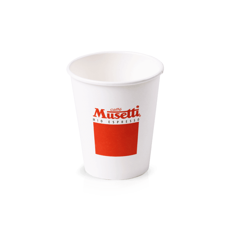 Medium paper cup with lid caff musetti for Musetti coffee